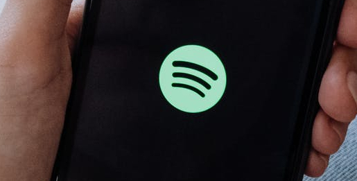 Spotify logo on a mobile phone